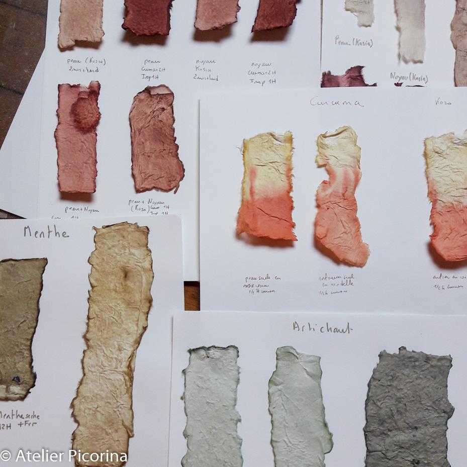 Décores de papier et teintures naturelles